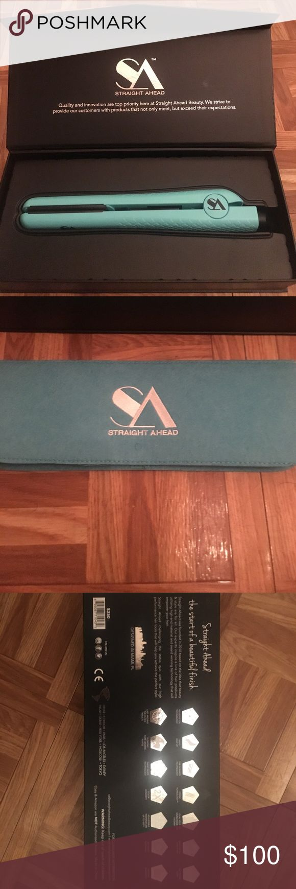 Straight ahead ceramic straightener BRAND NEW straightener!! It was a gift, but I don't need another hair straightener. Comes with lifetime warranty. Comes with heat protectant pad to save your counters. Accessories Hair Accessories
