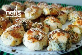 Güllü Oğlu Naneli Ve Hellim Peynirli Mini Poğaçalar