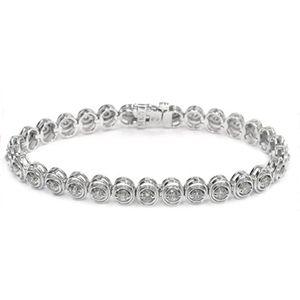 Diamant Armband - 3.00 Karat Diamanten - 585er Weißgold - Dieses Diamant Armband ist für nur 4900.00 Euro bei www.juwelierhausabt.de erhältlich.