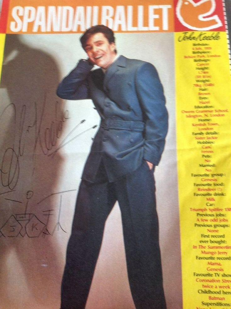 K1-8 Ephemera 1980s 1 Page Spandau Ballet John Keeble Profile   Collectables, Paper & Ephemera, Ephemera   eBay!