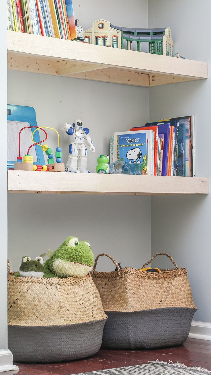 DIY Natural Wood Alcove Shelving - Easy Floating Shelves ...