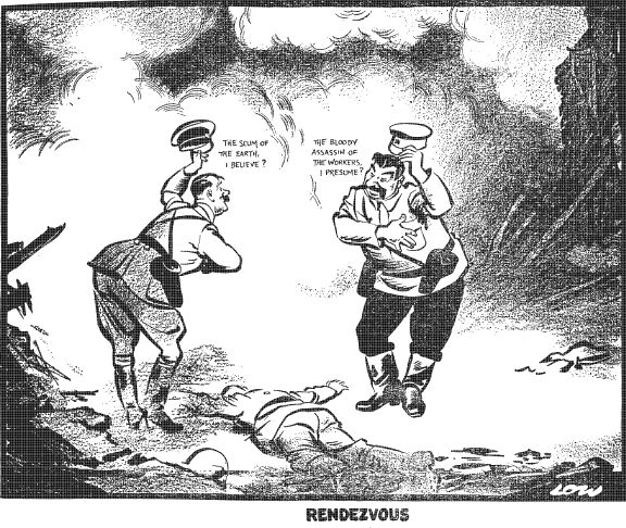 August 23, 1939 - The Molotov - Ribbentrop Pact between Nazi Germany and the Soviet Union was signed. Officially the pact was a non-aggression treaty between the two nations, but in a secret clause, the baltic states, Poland, Finland and Romania were also devided between the two nations. The pact was named after the two foreign ministers who signed it. #history #WWII