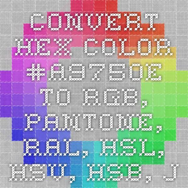 convert hex color to rgb pantone ral hsl hsv hsb json get color scheme