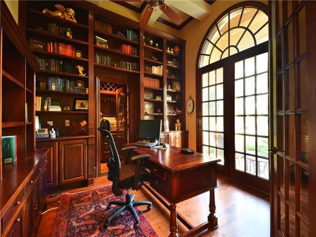 wood office. warm all wood office with arched doorway at 202 sendera bonita lakeway tx offices