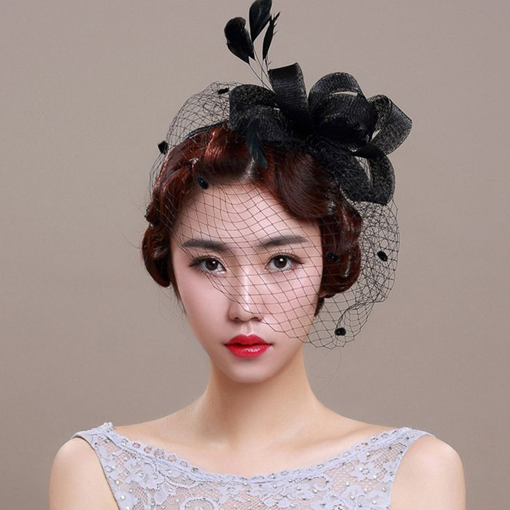 Cheap hat hair, Buy Quality hat female directly from China hat performance Suppliers: 	Bridal Hats 2016 Linen White/Black Ladies Sinamay Wedding Fascinators Hats Cocktail Hat with Feather Hair Clip Hair Acc