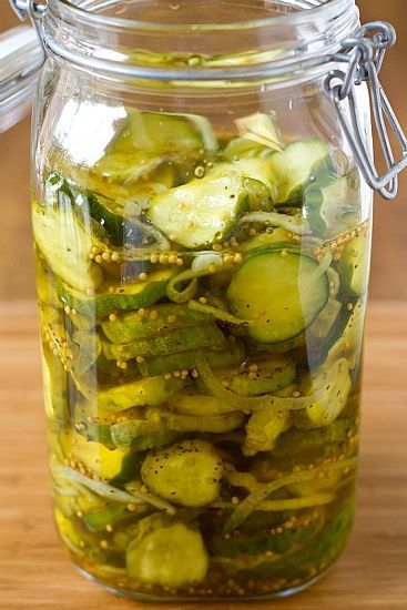 Homemade Refrigerator Bread and Butter Pickles  ~ love these and they are so, so, easy to make!