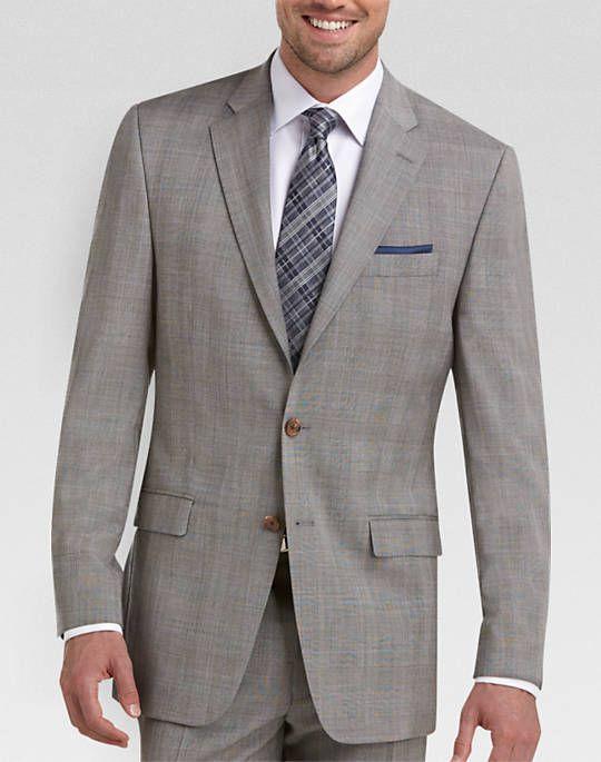 Lauren by Ralph Lauren Gray Plaid Classic Fit Suit