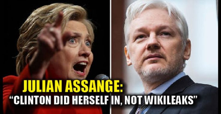 "Julian Assange, the co-founder, and editor in chief of Wikileaks says that it was Clinton's own words that destroyed her, not the fact that Wikileaks printed them. From Washington Examiner: ""What is the allegation here exactly?"" Assange asked in response to a question in an interview with the Italian newspaper la Repubblica about whether he had done a ""hit job"" on Clinton. ""We published what the Democratic National Committee, John Podesta, Hillary Clinton's campaign manager, and Hillary…"