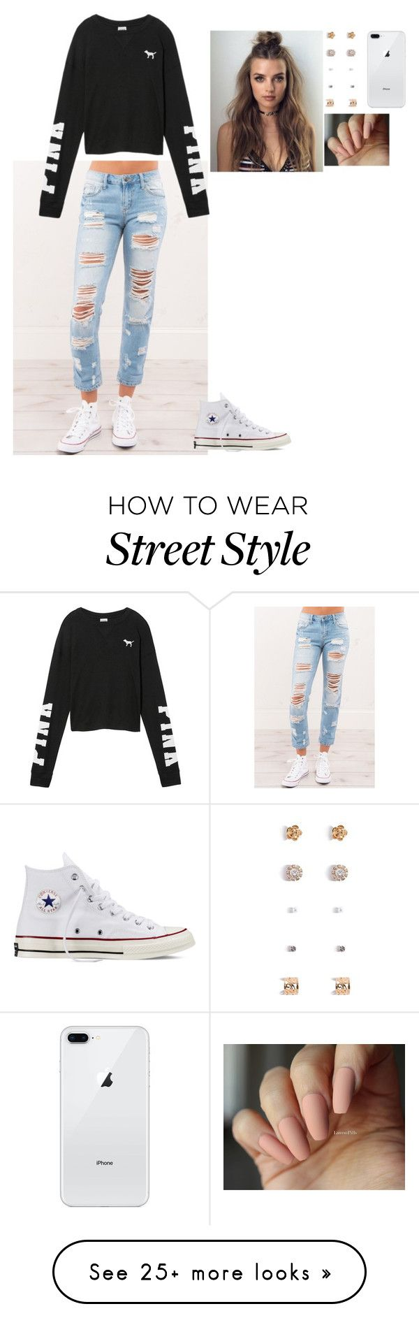 """Really..."" by elansley22 on Polyvore featuring Victoria's Secret, Forever 21 and Converse"