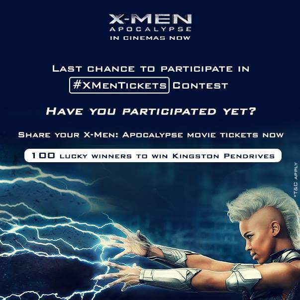 foxstar studio india xmanticket contest, chance to win Kingston pen drive (100 winner )  http://www.contestnews.in/xmanticket-contest-chance-win-kingston-pen-drive/