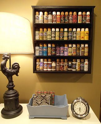 A drawer used as paint storage would be so cute in a craft nook.
