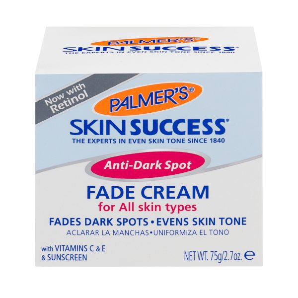 Palmer's Anti-Dark Spot Fade Cream, For all skin types, with hydroquinolone.