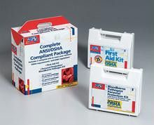 25 Person package (exceeds OSHA- meets ANSI standards)- one ea. of 223-AN- 216-O w- CPR one-way valve faceshie