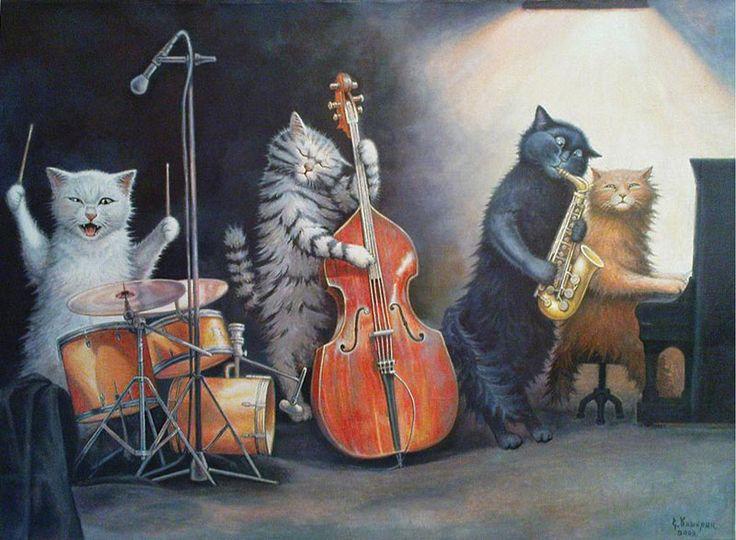этому поющие коты открытка них основном классических