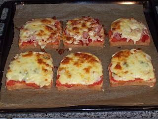 mini-pizzas de pan bimbo
