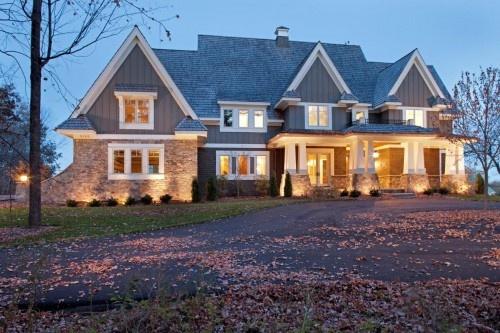 a little less symmetry and I would adore this!!: Idea, Dreams Home, Dreams Houses, Exterior Lights, Minneapolis, Exterior Design, Craftsman Style, Traditional Exterior, Stones