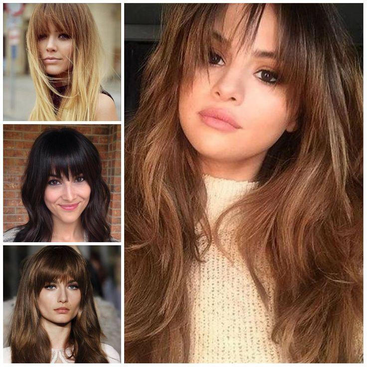 Peinados con Largas Rectas Flequillo para el año 2017 //  #2017 #año #Flequillo #Largas #para #Peinados #Rectas