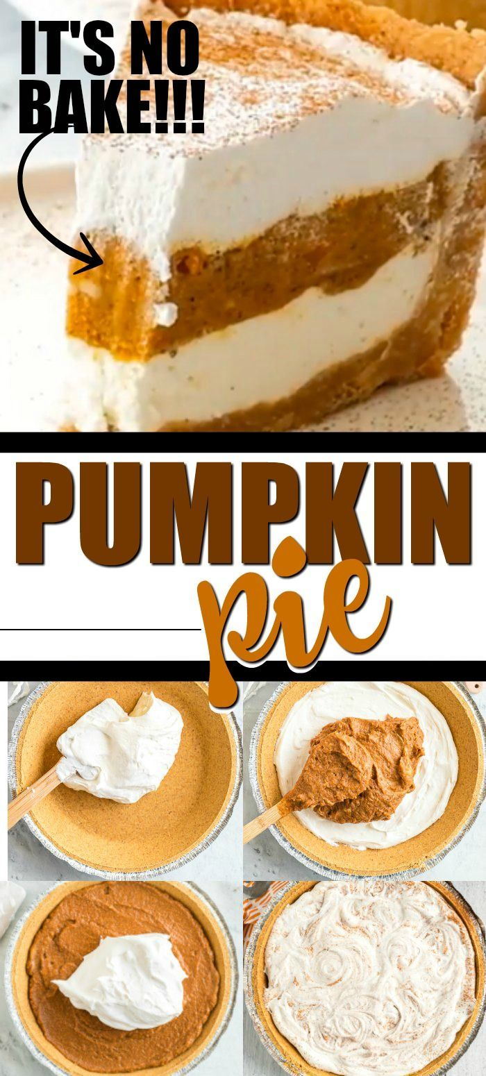 No Bake Pumpkin Pie Is A Great Twist On The Classic Pumpkin Pie It Features A Graham Cracker Crust Filled With P Easy Pumpkin Pie Pumpkin Pie Recipes Desserts