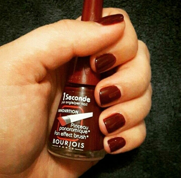 nails bourjois cosmetics red burgundy manicure