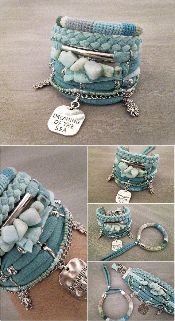 Dreaming Of The Sea Ite Bracelet Mermaid Crafty Pinterest Bracelets And Etsy