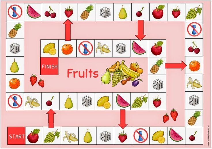"""Ideenreise: Spielfeld """"fruits"""" für Englisch                                                                                                                                                      Mehr"""