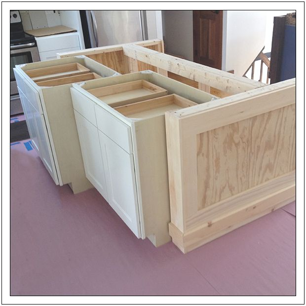 diy kitchen island from stock cabinets New House Ideas Pinterest