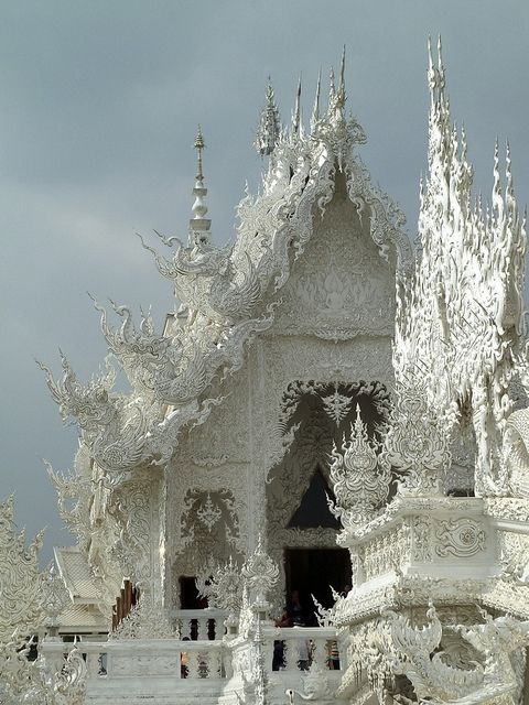 Thailand: Rong Khun, Buddhist Temple, Temples, Chiang Rai, That Rong, Thailand, Castle, Places