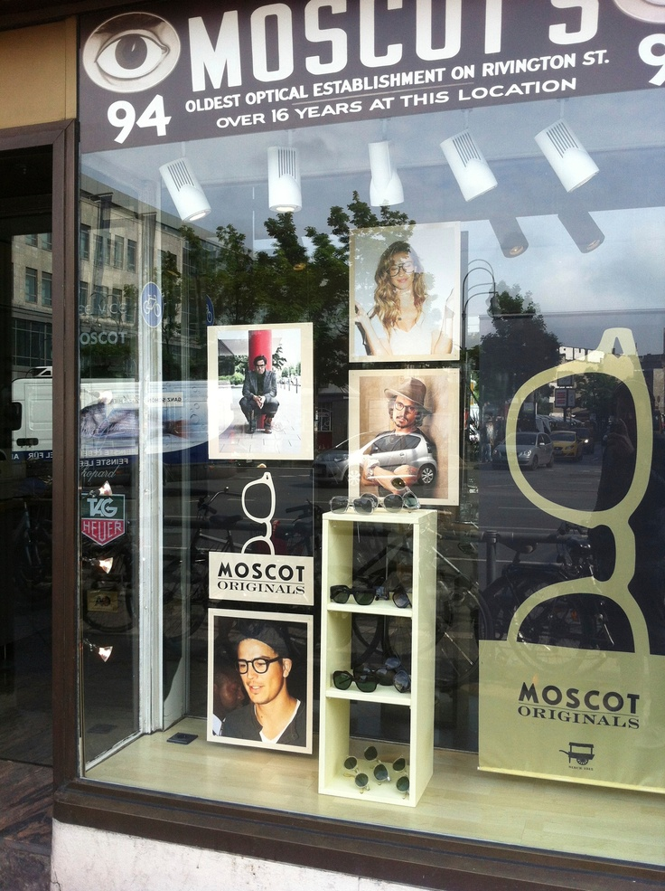 Spotted: Fans of MOSCOT on display at retail shop, Oktopus Optik, in Berlin, Germany!