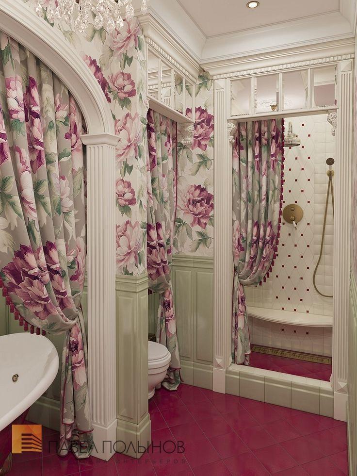 Фото: Дизайн интерьера ванной комнаты - Интерьер шестикомнатной квартиры в классическом стиле, Малый пр. П.С., 160 кв.м.