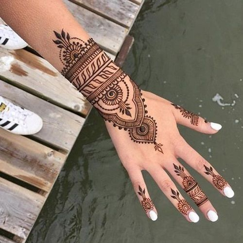 100 Latest Bridal Mehndi Designs with Images [2017] - Piercings Models