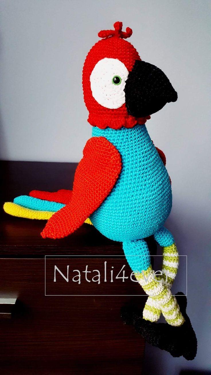 Parrot PATTERN BY Stip na Haak #natali4ever # crochet #amigurumi #crochetbird #crochettoy