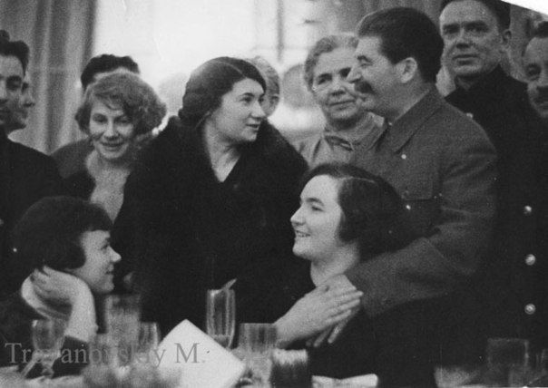 March 17, 1938 there was a reception in the Kremlin with families Papanin's Group