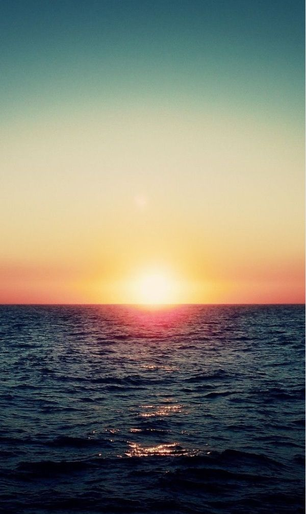 Sunset At Sea Iphone Wallpaper