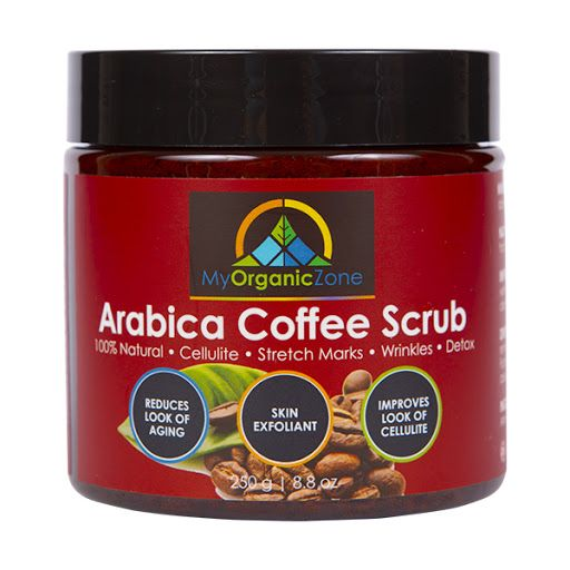 Arabica Coffee Scrub: https://myorganiczone.com/product/arabica-coffee-scrub/  Arabica Coffee Scrub. Arabica Coffee Scrub: – 100% Natural – Improves the Look of Cellulite – Skin Exfoliant Arabica Coffee Scrub was designed for the day to day maintenance of a clean and healthy looking skin. As a result, once applied, it helps regenerate your skin, reduces signs of cellulite, stretch marks or wrinkles. Due to the very careful formulation, our arabica coffee scrub has many positive effects on…