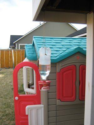 Homemade Kids Plastic Bottle Hummingbird Feeder DIY Project