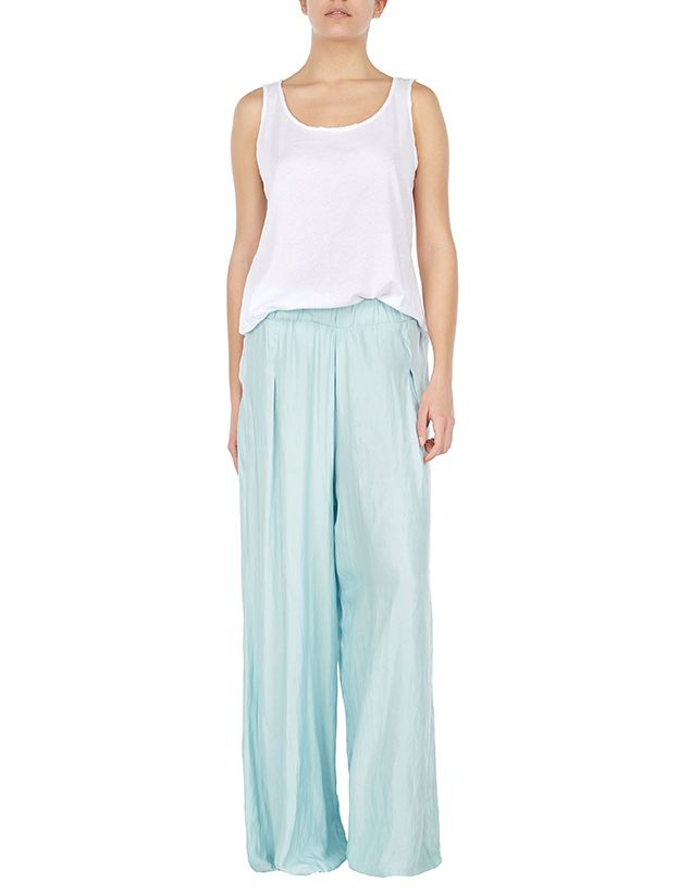 Jeffrey's Top -Placencia wide leg pants #less is more