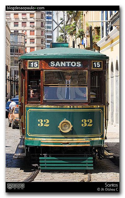 old trolley car, Santos, Brazil