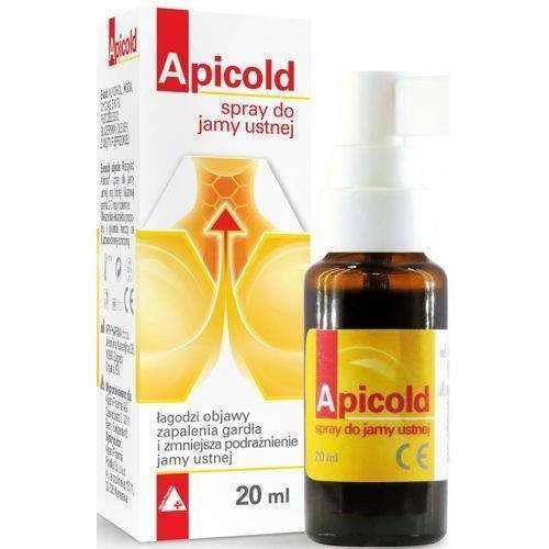 Spray propolis APICOLD Oral 20ml, pharyngitis symptoms