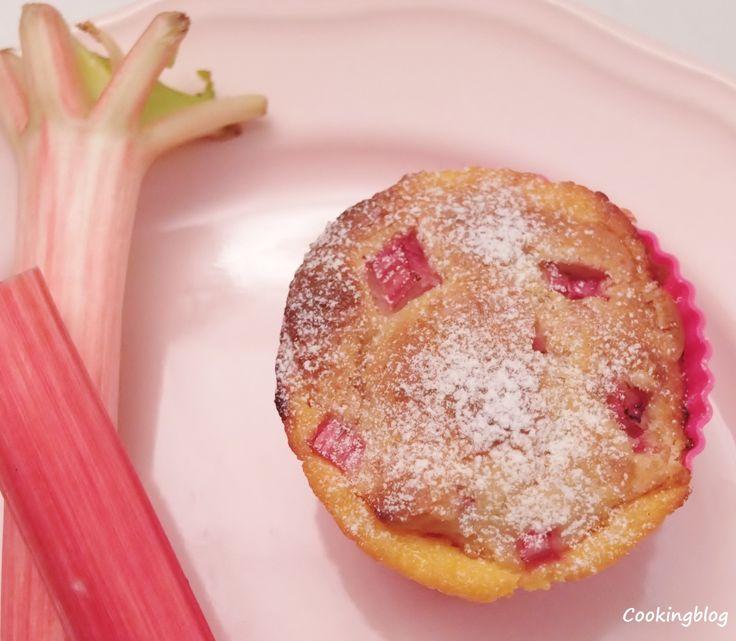 "Cooking: Muffins de ruibarbo e ""crème anglaise"""