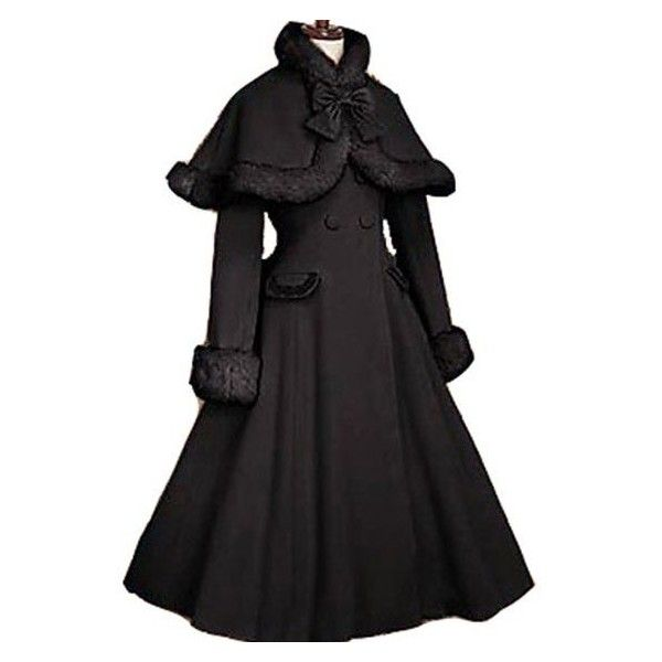 Gothic Lolita Coat adult princess costume medieval lolita coat Long... ❤ liked on Polyvore featuring costumes, plus size womens costumes, plus size gothic costumes, princess costumes, adult halloween costumes and goth costume