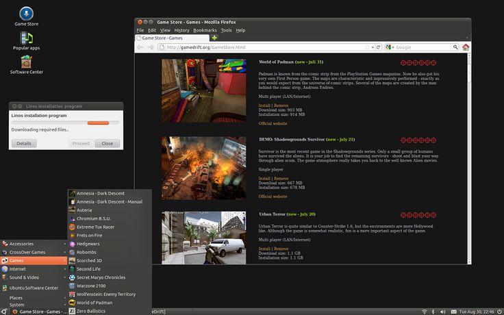 Game Drift Linux Desktop Screenshot