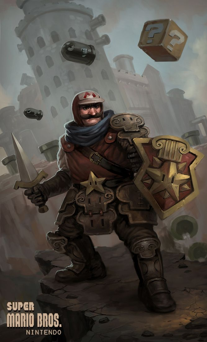 Mario Redesign: Knights, Videos Games, Mario Medieval, Illustration, Supermario, Art, Super Mario Brother, Super Mario Bros, Mario Redesign