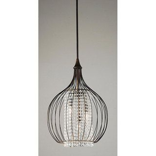 @Overstock - Indoor 3-light Copper/ Crystal Pendant Chandelier - This pendant chandelier will look great in your hallway or dining room. The three-light fixture showcases an antiqued copper finish with white crystal accents. http://www.overstock.com/Home-Garden/Indoor-3-light-Copper-Crystal-Pendant-Chandelier/5250530/product.html?CID=214117 $145.79