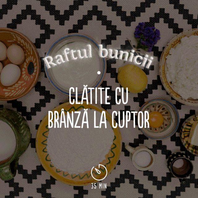 """Din traiuri vechi, clătitele cu brânză rumenite la cuptor sunt desertul care a spus """"Te iubesc!"""" în cel mai desfătător mod și """"Mai vreau!"""" după fiecare îmbucătură. #RaftulBunicii #AstaIRomania #BunatatiCuDragoste"""