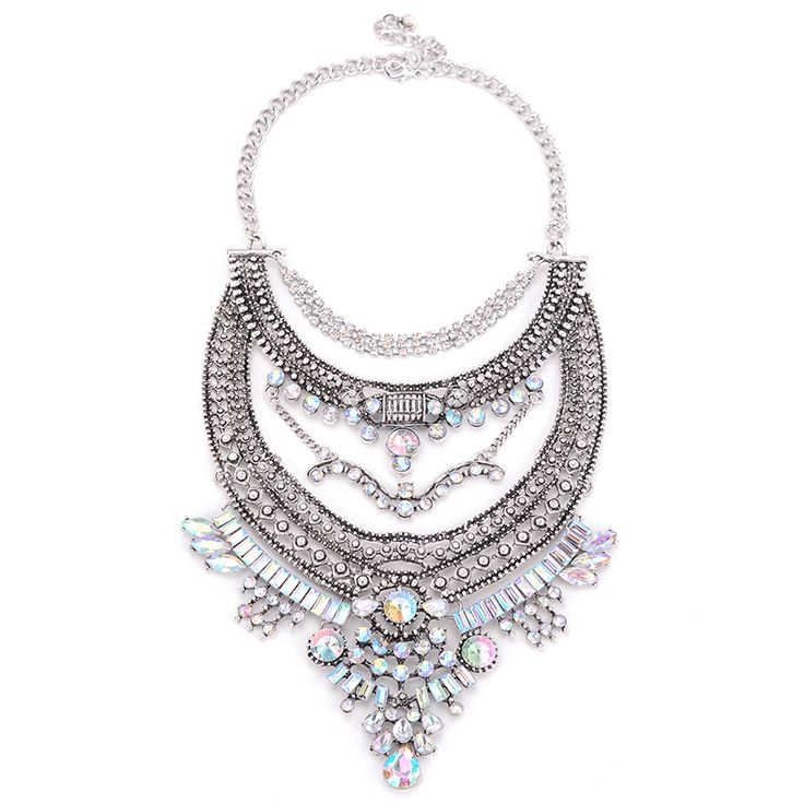 Hot Sale New Fashion Necklace Pendant Women 2016 High Quality Crystal Collier Femme Bib Statement Collar Vintage Choker Maxi