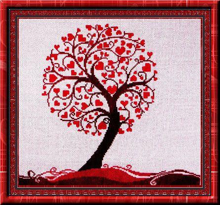 Love Tree cross-stitch
