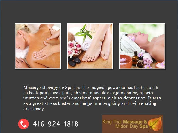 Are you looking for the best deals on special day spa packages Toronto? Visit the King Thai Massage And Midori Day Spa in Toronto  today. To book your Toronto Day Spa appointments online @ MidoriDaySpa.ca website or call on 416-924-1818