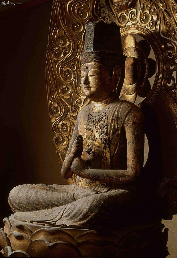 Japanese Important Cultural Property, Statue of Dainichi Nyorai (Mahavairocana) 大日如来坐像(山梨県塩山市 放光寺)
