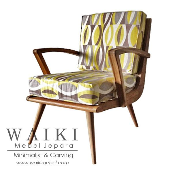 Kumala Chair - Model kursi retro vintage 1950. Waiki Mebel produsen furniture model retro scandinavia vintage Jepara teak furniture at factory price.