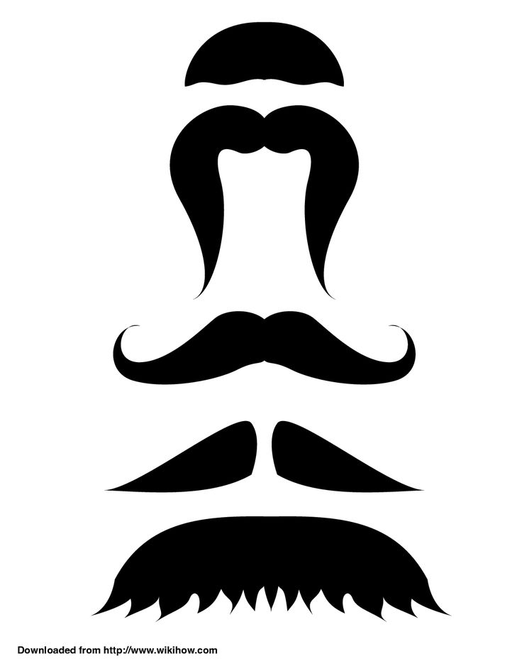 The 25 best ideas about mustache template on pinterest for Mustache print out template